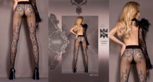 412 Plus Size Thigh High Pantyhose(Sm-Xl)
